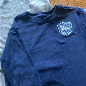 Gap Kids navy lion patch long sleeve t-shirt